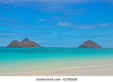 Mokulua Islands Lanikai Beach Hawaii