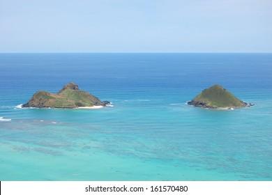 Mokulua Islands Oahu Hawaii