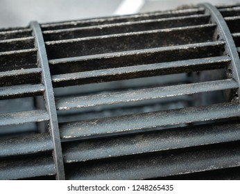 mold in system air conditioner, Not cleaned, cause of allergy, virus concept