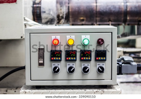 Mold Temperature Controller Electric Box Stock Photo (Edit