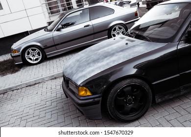 Moldova 25.09.2019. Sport Bmw E36 M3 Modern Stance Car Racing Car Drifting  Burnout,  Clean BBS Wheels