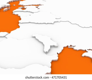 moldova map 3D illustration