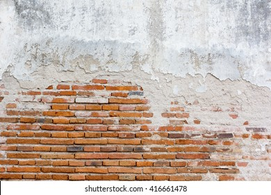 Moldy brick wall background