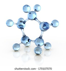 molecule 3d illustration
