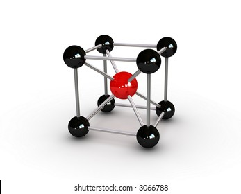 molecule abstract (can be used for printing or web)