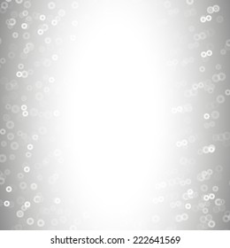 Molecule structure, gray background for communication.