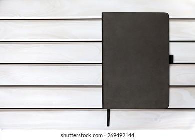Moleskin, notebook, black.