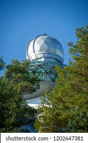 Moletai, Kulionys, Lithuania - October 3, 2014: Lithuanian Museum of Ethnocosmology, a sky observatory and ethnocosmology museum. The Lithuanian Ethnocosmology Museum officially established in 1990.