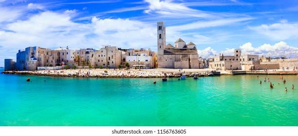 Molfetta - coastal town in Puglia with beautiful sea and beaches, Italy