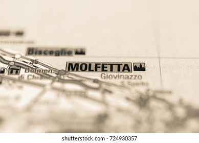 Molfetta on map.
