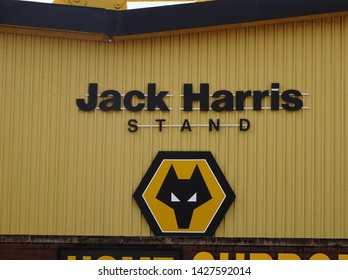 Molineux Stadium, Wolverhampton, Midlands, England, UK - August 2014. Jack Harris Stand at Molineux, home of Wolverhampton Wanderers Football Club.