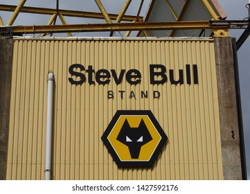Molineux Stadium, Wolverhampton, Midlands, England, UK - August 2014. Steve Bull Stand at Molineux, home of Wolverhampton Wanderers Football Club.
