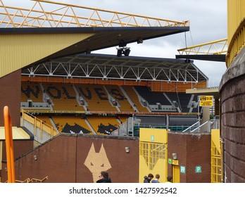 Molineux Stadium, Wolverhampton, Midlands, England, UK - August 2014. Molineux, home of Wolverhampton Wanderers Football Club.