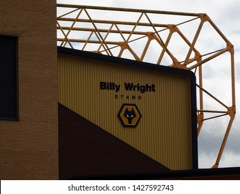 Molineux Stadium, Wolverhampton, Midlands, England, UK - August 2014. Billy Wright Stand at Molineux, home of Wolverhampton Wanderers Football Club.