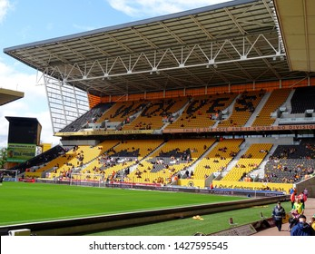 Molineux Stadium, Wolverhampton, Midlands, England, UK - August 2014. Molineux, home of Wolverhampton Wanderers Football Club.