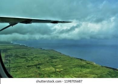Molokai from the air.