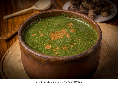 Molokhia is a traditional dish, very well known in Egypt.