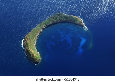 Molokini Crater - Aerial View Near Maui - Hawaii