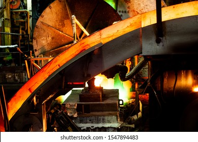 Molten copper casting from shaft furnace