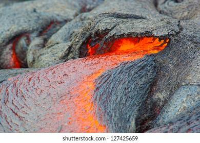 Molten lava, Big Island, Hawaii