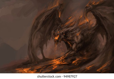 molten roch dragon in attack