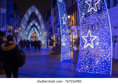Photo of Molton street decorated for Christmas in London