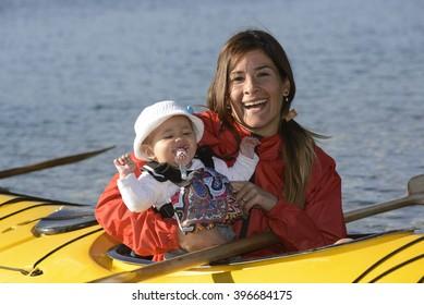 Mom and Daughter Enjoying