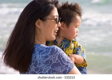 Mom and J
