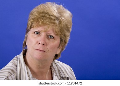 """Mom saying """"you what?"""" on blue background"""