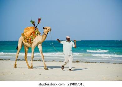 Mombasa. kenya. January 3, 2012. beach traders and artisans