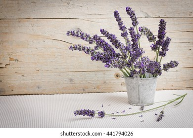 Moment of relaxation with fresh lavender flowers