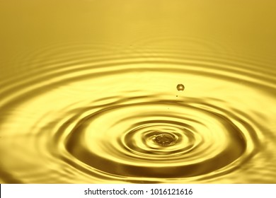 A momentary expression of water made by dropping a piece of water
