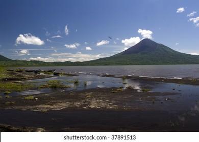 Momotombo across Lake Managua
