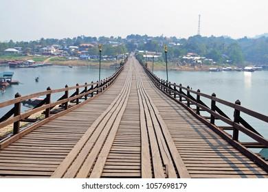 Mon Bridge in Sangkhlaburi,Thailand