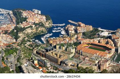 Monaco, aerial view of Fontvieille