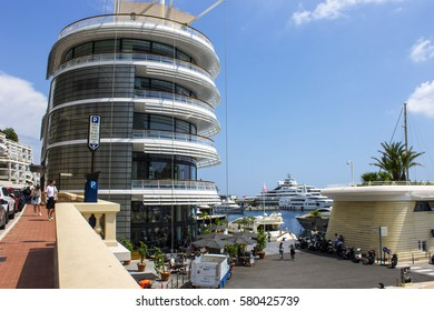 MONACO - August 10, 2016: The streets of the Principality of Monaco, a sovereign city-state and microstate located on the French Riviera in Western Europe and host of the annual Monaco Grand Prix.