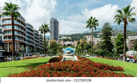 MONACO – AUGUST 12,2019: Cityscape of  Monaco (The Principality of Monaco),  a sovereign city-state on the French Riviera, the second-smallest country in the world after the Vatican.