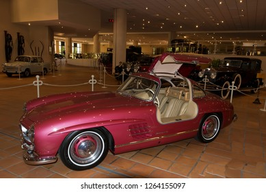Monaco - August 6 2016: Mercedes-Benz 300SL, 1954 at display in Monaco Top Cars Collection, Monaco. The cars were the personal collection of Prince Rainier III of Monaco.