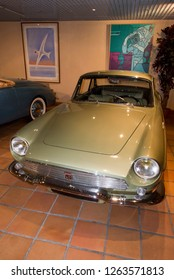 Monaco - August 6 2016: Renault Floride 1959 at display in Monaco Top Cars Collection, Monaco. The cars were the personal collection of Prince Rainier III of Monaco.