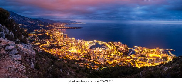 Monaco at blue hour