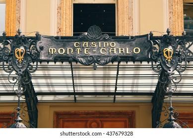 MONACO - CIRCA JULY 2014: Front entrance to Monte Carlo Casino in central Monaco.