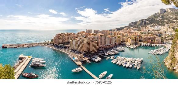 Monaco Fontvieille cityscape Monte carlo French Riviera Panorama