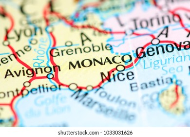 Monaco On Map Of France.Monaco Map Stock Photos Images Photography Shutterstock
