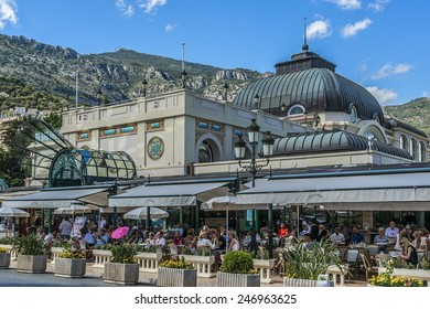 MONACO - JULY 8, 2014: Architecture of Monaco: street views. Principality of Monaco is a sovereign city state, located on the French Riviera in Western Europe.