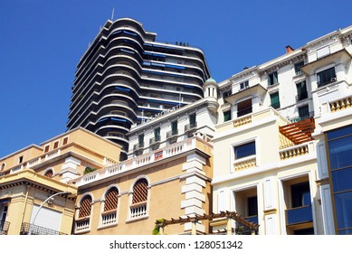 MONACO - MAY 07:Luxury apartments in Monaco on May 07 2008. Monaco, is one of the richest countries in the world and the world's most densely populated urban center.