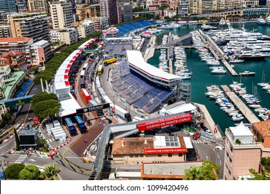MONACO - MAY 20: Preparation for the qualifying races of Formula 1 Grand Prix de Monaco on May 20, 2018, Monaco
