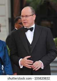 MONACO - MAY 23, 2012: Prince Albert II of Monaco  at the inaugural Nights in Monaco Gala at the Hotel de Paris, Monte Carlo. May 23, 2012  Monaco