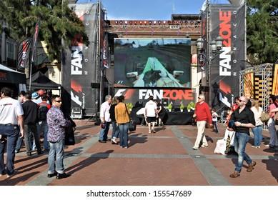MONACO - MAY 24: Fan zone locates in the city center before qualifying races of Formula 1 Grand Prix de Monaco on May 24, 2012, Monaco.
