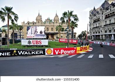 MONACO - MAY 24: Speedway for the races of Formula 1 Grand Prix de Monaco locates near Grand Casino on May 24, 2012, Monaco.