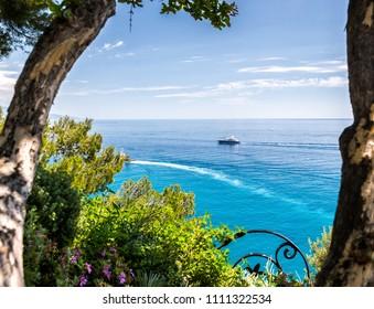 Monaco and Monte Carlo principality. Town park sea view